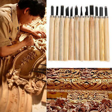 12Pcs/set Wood Carving Hand Chisel Woodworking Tool Set Woodworkers Gouges YK