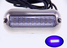 hh2Pactrade Marine Pontoon Boat Blue 27 LED Underwater Light  S.S 316 Housing