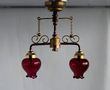 Dollhouse Miniature  Lighting - BATTERY OPERATED - 'Delancey Cafe' Ceiling Lamp
