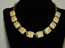 CORO PEGASUS OFF WHITE LUCITE THERMOSET CONFETTI NECKLACE
