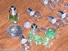 100pc Wholesale Huge Lot Cube small tiny craft beads Glass Bottles Vials charms