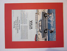 Vauxhall Viva HA colour advert from Motor 1964. with frame mount.