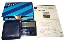 VINTAGE raro Toshiba LQ-200A orologio sveglia MADE IN JAPAN