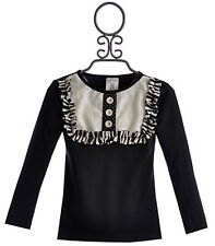 NWT NEW Boutique Persnickety Fall/winter Black Lou Lou Top Girls Size 8