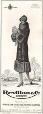 ▬► PUBLICITE ADVERTISING AD REVILLON & Cie manteau Manola 1926