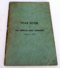 1935 American Chess Federation Yearbook inscribed by Arpad Elo