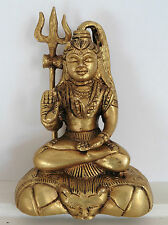 **Beautiful** Indian Lord Shiva Brass Hindu God Statue 12.6cm