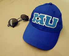 Baseball Hat Cap Blue MU Letters Pixar Movie Monsters University Sulley Mike Hat