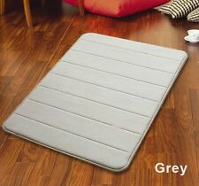 "32"" Non-Slip Back Rug Soft Bathroom Carpet Memory Foam Bath Mat Gray New"