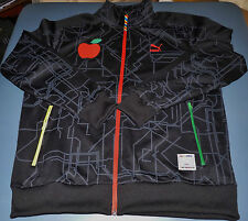 New Puma Dee and Ricky Track Jacket Zip Apple Black Men's Size Large