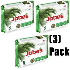 (3) packages Jobe's 01010 5 Pack 10-5-10 Palm Tree Food / Fertilizer Spikes