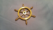"""4"""" Solid Brass Decorative Ship Wheel Paperweight"""