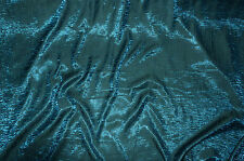 "Iridescent Shimmer Crushed Satin Dress wedding tablecloth Fabric TEAL/ 55"" 5 yrd"