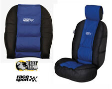 Dodge Caliber Universal Race Sport Blue & Black Cushioned Front Seat Cover