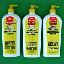 3 Pk O'Keeffe's 12 Oz Pump Bottle Skin Repair Body Lotion Heal Dry Itchy Skin