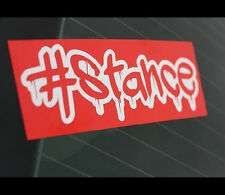 #Stance Bleeding StanceWorks JDM Car Decal reflective Multi-layered Sticker