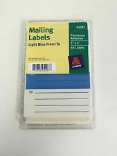 "Avery From/To Light Blue 3""x4"" Mailing Labels w/ Guide Lines - 60 per Pack 05297"