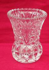 Vintage Zajecar Crystal Posy Vase *Made in Yugoslavia *Thick & Heavy 24% PbO