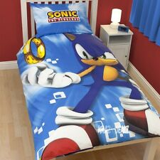 Sega Sonic the Hedgehog Spin Single Panel Duvet Cover Bed Set New Gift