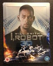 I ROBOT 3D Blu-Ray SteelBook Zavvi UK Exclusive Region Free New OOP & Rare! Read
