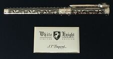 S.T. Dupont White Knight Rollerball Pen, Premium Edition # 142030, New In Box