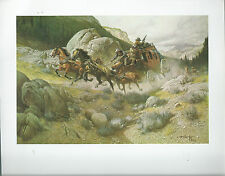"""Frank McCarthy, """"The Attempt on the Stage""""- Cowboys,Sragecoach,Western Art Print"""
