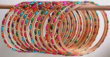 Set 12 Multicolore Perline Plastica Strass 62 mm Bracciale Gioielli etnici