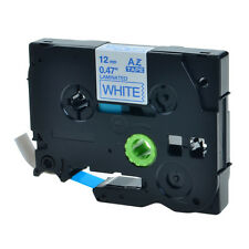 1PK Blue on White 0.47'' Label Tape for Brother P-Touch TZ 233 TZe 233 12mm