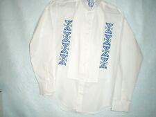 Ribbon Shirt, Oklahoma Style, Tuxedo Embroidered 2nd       rs1-sec