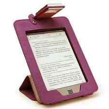 NEW PURPLE Amazon Kindle TOUCH Light Lighted Leather Case Cover Stand 2X LED