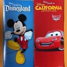 Disneyland & California Disney Guide Maps Spring 2013 Set - Cars Land & Mickey