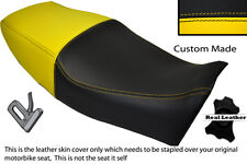 BLACK& YELLOW CUSTOM FITS YAMAHA XJ 600S DIVERSION 91-04 LEATHER DUAL SEAT COVER