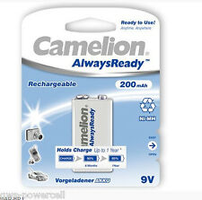 1 X Camelion 9v batteria blocco always ready NiMH hr6f22 200mah lr61 9v E-Block