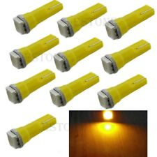 10Pcs Yellow T5 5050 1SMD Led Bulbs For Dashboard Gauge Light 70 73 74 2721 17