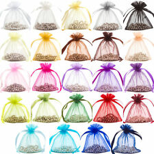 100pcs Mixed  Premium ORGANZA Wedding Favour GIFT BAGS Jewellery Pouches
