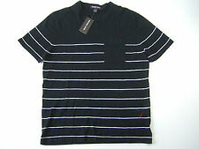 MICHAEL KORS STRIPED BLACK MEDIUM LINEN COTTON TSHIRT T-SHIRT MENS DEFECT