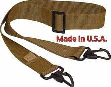 2 Point AK-47 Tactical Shoulder Strap/Gun Sling Made in USA Genuine Coyote Brown