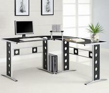 Coaster Computer Desk -Black/Silver 800228