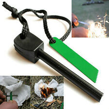 >> Survival Magnesium Flint And Steel Striker Fire Starter Lighter Stick Camping