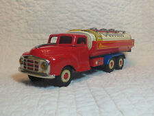 "Vintage Tin Friction Marusan Shell Remove-able Fuel Tanker Truck Japan 13"" Nice"