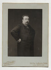 PHOTO - Homme Studio Pierre PETIT Rue Lafayette à Paris Grand Format Vers 1900