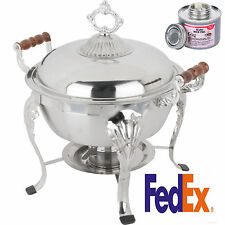 CLASSIC 5QT Stainless Round Chafer Chafing Dish Catering Buffet Warmer rebate