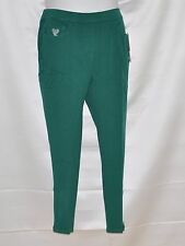 Quacker Factory DreamJeannes Short Leggings w/Rhinestone Zipper Size S Green