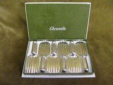 beautiful french silverplate knife rests (6) Christofle ondulations Luc Lanel