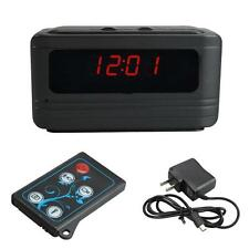 5MP HD 720P Camcorder Spy Alarm Clock Video Hidden Camera DVR Motion /w Remote