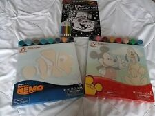 NEW DISNEY STORE Mickey Pluto Finding Nemo Painting Set Cars Velvet Poster Lot