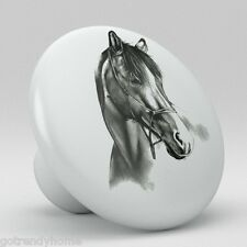 Draft Horse Animal Ceramic Knobs Pulls Drawer Cabinet Vanity Closet 899 Kitchen