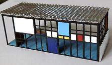 Micro Modern Dollhouse Miniature Eames House- 1:144 1/144 Diorama Art