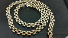 14k solid yellow gold chain,men,rolex style, 6mm, 18 inch