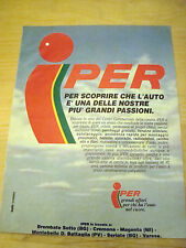 PUBBLICITA' ADVERTISING WERBUNG 1991 IPER CENTRO COMMERCIALE (Q432)